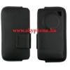 Samsung M8800 pixon oldalt bebújtatós tépőzáras bőrbevonatos gyári tok fekete*