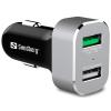 SANDBERG autós töltő 1 x QC 3.0 + 1 x USB 2.4A