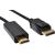 SANDBERG kábel, DisplayPort 1.2-HDMI 4K M-M 2m