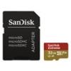Sandisk 173420 MicroSD Extreme kártya 32GB, 90MB/sec. CL10, UHS-I, V30, A1