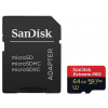 Sandisk microSDXC Mobile Extreme PRO V30, A1 64GB + adapter (R: 100MB/s W: 90MB/s) UHS-1 + Rescue Pro Deluxe