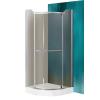 Sanipro Denver 80x80 cm-es íves zuhanykabin nyílóajtóval