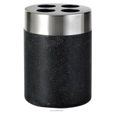 Sapho STONE fogkefetartó, fekete 22010210 fürdőszoba kiegészítő