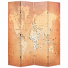 Sárga világtérkép mintás paraván 160 x 170 cm