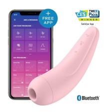 Satisfyer Satisfyer Curvy 2+ - okos, akkus, vízálló csiklóizgató vibrátor (pink) vibrátorok