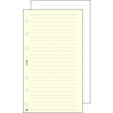 """SATURNUS Kalendárium betét, jegyzetlap, """"S"""", vonalas, SATURNUS, chamois gyűrűs kalendárium betétlap"""