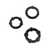 SCALA SELECTION STAY HARD Pénisz gyűrű (3 db), Fekete