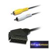 SCART kábel - 2 x RCA dugó hossza 1,5 m