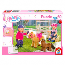 Schmidt : Baby Born a pónifarmon 60 db-os puzzle ajándékkal puzzle, kirakós