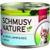 Schmusy Nature Macska Kitten Konzerv Lazac+Bárány 190g
