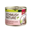 Schmusy Nature Macska Konzerv Marha+Baromfi 190g