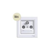 Schneider Electric Asfora - TV-R-SAT aljzat, átmenő, 4 dB, komplett, bézs hűtés, fűtés szerelvény