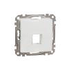 Schneider Electric SDD111421 Egyes adapter Keystone (RJ45, RJ11, HDMI, VGA) csatlakozóhoz, fehér burkolattal, keret nélkül (Sedna Design / Elements)