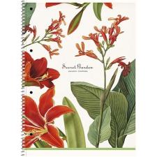 """SCHOOLBOY Spirálfüzet,  A4+, vonalas, 80 lap, SCHOOLBOY """"Secret Garden"""", vegyes füzet"""