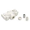 Schrack Technik Schrac Technik LI145991   EUTRAC 3 fázisú sín, adapter, fehér, szerelési anyagokkal