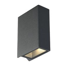Schrack Technik SHRACK TECHNIK QUAD 2 fali lámpatest, négyzetes,antracit,LED, 2x3W, meleg f- LI232475 kültéri világítás