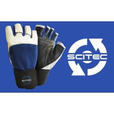 Scitec Nutrition Kesztyű Power Blue with wrist wrap férfi sötétkék L Scitec Nutrition