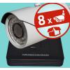 Sec-CAM 4MP-AHD-SET-08CVF, varifokális 4MP felbontású 8 kamerás komplett AHD megfigyelő szett