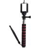 Sec-CAM SJ/GP-115, 90cm tartóteleszkópos MONOPOD (szelfibot), mobiltelefontartó kerettel - SJCAM és GoPro akciókamerához, mobiltelefonokhoz - SJCAM SJ4000, SJ5000, X1000 sorozatokhoz