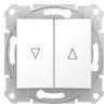 Sedna Redőnykapcsoló, fehér burkolattal, keret nélkül, süllyesztett, 10A V ( Schneider Electric SDN1300321)