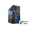 Sharkoon DG7000-G táp nélküli ablakos fekete ház kék LED /4044951019366/