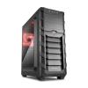 Sharkoon SGC1 ablakos ATX piros (4044951021260)