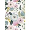SHKOLYARYK Jegyzetfüzet, kockás, A5, 80 lap, SHKOLYARYK  Pastel flowers , vegyes