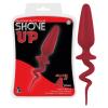 Shove up - kunkori farkincás anál dildó (piros) - nagy