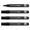 SIGEL Alkoholos marker, 1-3 mm, kúpos, 4 db/csomag, SIGEL, fekete