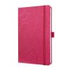 "SIGEL Jegyzetfüzet, exkluzív, 135x203x16 mm, vonalas, 174 oldal, SIGEL ""Jolie"", Purple Elegance"