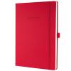 """SIGEL Jegyzetfüzet, exkluzív, A4, vonalas, 194 oldal, keményfedeles,  """"Conceptum"""", piros"""