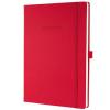 """SIGEL Jegyzetfüzet, exkluzív, A4, vonalas, 194 oldal, keményfedeles, SIGEL """"Conceptum"""", piros (SICO645)"""