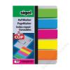 SIGEL Jelölőcímke, műanyag, 5x25 lap, 12x50 mm, klippel, SIGEL Brillant, vegyes szín (SIHN610)