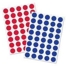 SIGEL Moderációs jelölőpontok 18 mm kör, SIGEL, 1040 db/csomag, piros és kék ajándéktárgy