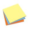 SIGEL Öntapadó jegyzettömb, elektrosztatikus, 100x100 mm, 100 lap, SIGEL, 3 különböző szín