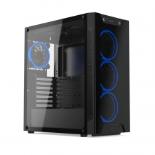 SilentiumPC Armis AR6X TG RGB Black számítógép ház