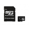 Silicon Power 16gb microsd cl6 + sd adapter memóriakártya