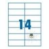 SilverBall SilverBall etikett címke 105x42,4 mm 14 címke/lap (100 lap/doboz)