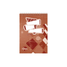 SilverBall Spirálos zsebkönyv A5 50 lapos KOCKÁS SilverBall <10db/csom> jegyzettömb
