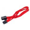 Silverstone 6-Pin PCIe - 6-Pin PCIe hosszabbító - 250mm piros