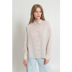 Silvian Heach Collection , Foltzsebes ing, törtfehér, M (PGP18330CA-OFF-WHITE-M)