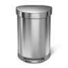 SimpleHuman CW2029 60 literes félkör alakú pedálos szemetes - rozsdamentes