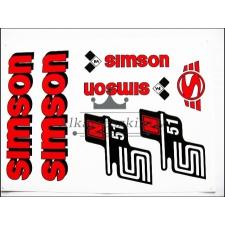 SIMSON MATRICA KLT. N51 PIROS / SIMSON - 51 egyéb motorkerékpár alkatrész