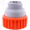SIROFLEX/4471/ TÖMLŐ ÉS CSAPCSATLAKOZÓ ADAPTER - UV álló műanyag, 3/4 colos külsőmenettel és 1/2 colos tömlőösszekötő véggel.    Siroflex Ltd. olasz gyártás.