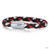 Skipper & Son Segeltau karkötő nemesacél ezüst/piros gemintat Hossz: 21 cm