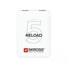 Skross Reload5 5Ah power bank USB/microUSB kábellel, két kimenettel power bank