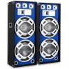 Skytronic 38 cm PA hangfalpár, kék fényeffekt, 2 x 1000 W