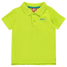 Slazenger gyerek póló - Plain Polo Shirt Infant Lime Green