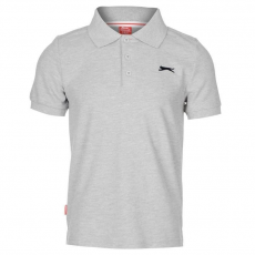 Slazenger gyerek póló - Slazenger Plain Polo Shirt Junior Grey Marl