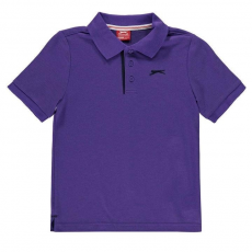 Slazenger gyerek póló - Slazenger Plain Polo Shirt Junior Purple